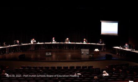 April 19, 2021 – Port Huron Huron Schools Board of Education Regular Meeting