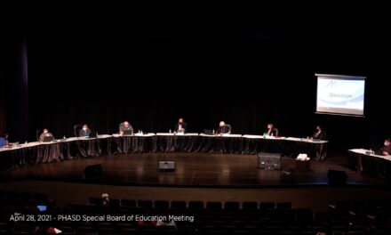 April 28, 2021 – PHASD Board of Education Special Meeting