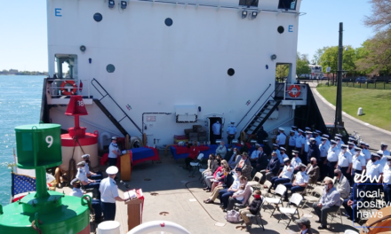 Leaders Honored in USCGC Hollyhock Change of Command Ceremony