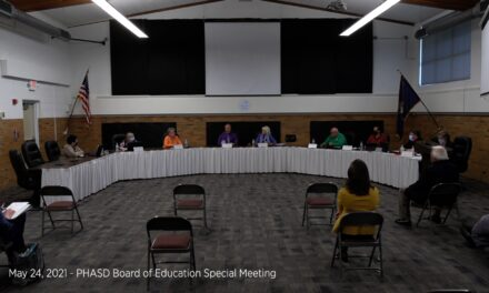 May 24, 2021 – PHASD Board of Education Special Meeting