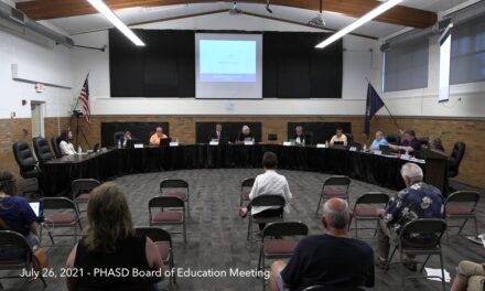 July 26, 2021 – PHASD Board of Education Meeting