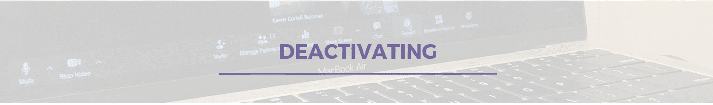 Deactivating tech to give yourself a break from technology.