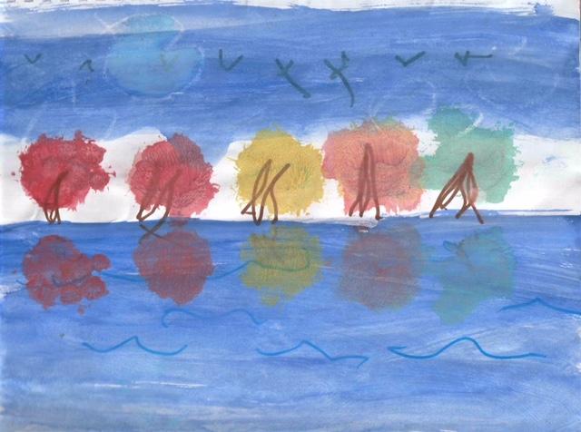 Fall Tree Reflection