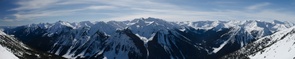 View off the back side of Kicking Horse, British Columbia.