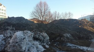 Mt Kendall swallows everything in its path.