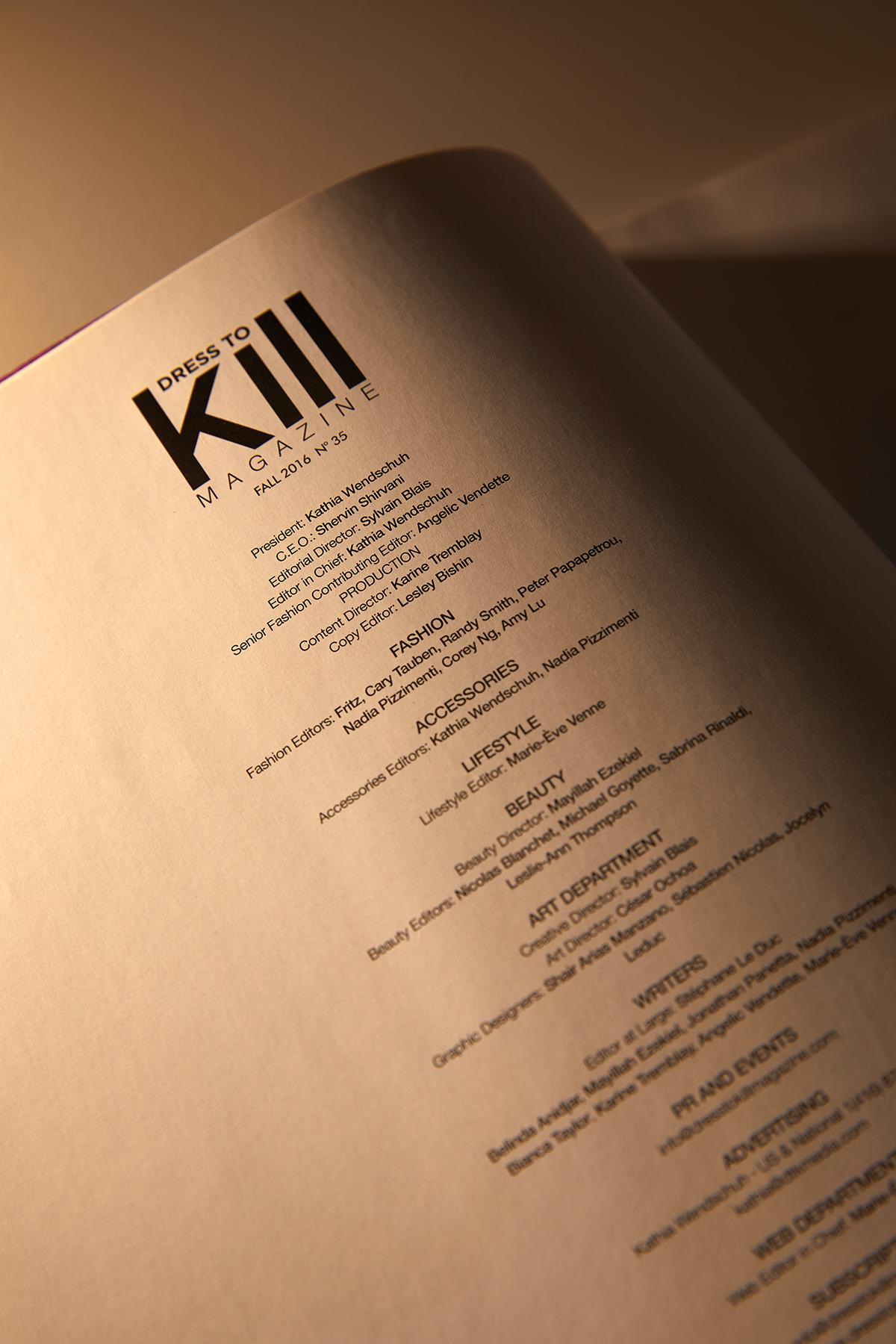 Dres to Kill Magazine & DTK Men - Copy Editor