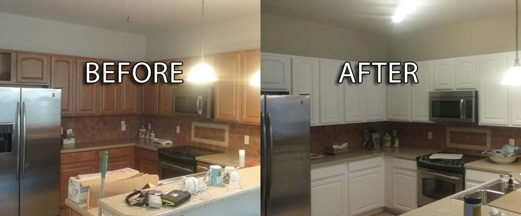 cabinet painting before and after