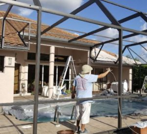 Pool Cage Painting