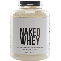 Naked Whey container - organic whey protein isolate