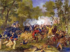 Battle of Tippecanoe by Alonzo Chappel