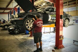 Jaguar Oil Change - Kindred Automotive Matthews, NC with BMW in for auto repair and BMW Oil Service in the shop