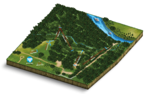 The interactive map for Zip Lost Pines