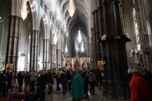 A quick and sneaky photo from inside Westminster Abbey