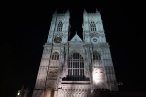 from  a stroll by the abbey a few nights before