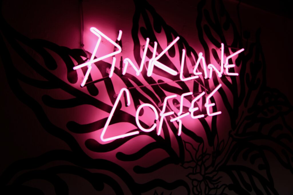 Pink Lane Coffee is an independent cafe that aims to sell fair trade coffee blends
