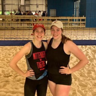 Teammates•Rivals•Best Friends•Sisters 💜 loved winning our first sand tourney together this weekend