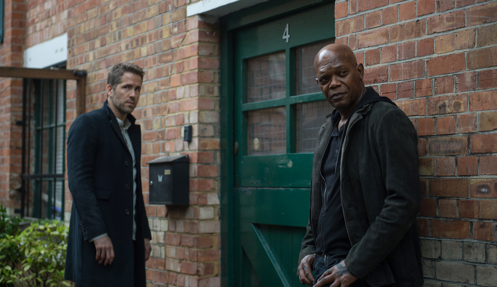 "Ryan Reynolds as ""Michael Bryce"" and Samuel L. Jackson as ""Darius Kincaid"" in THE HITMAN'S BODYGUARD. Photo by Jack English."