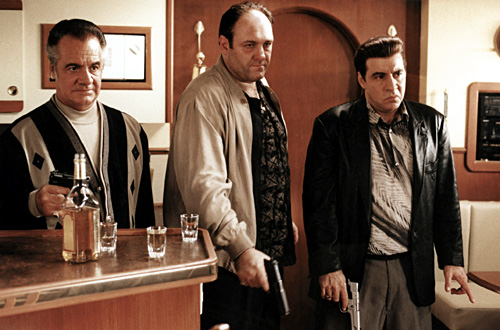 The Sopranos - Season 2 - Tony Sirico, James Gandolfini, Steven Van Zandt - Anthony Neste/HBO