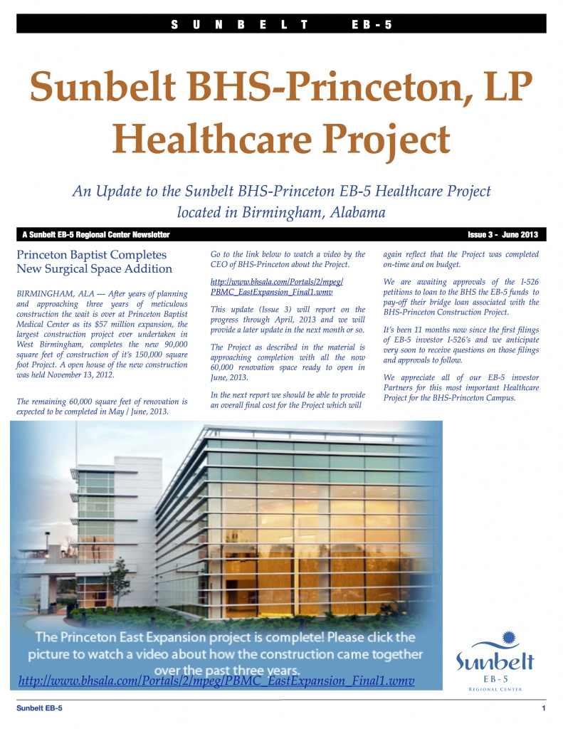 Sunbelt BHS-Princeton Update Issue 3 Spring 2013 copy 2