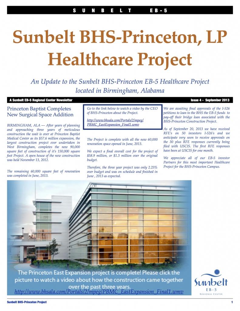 Sunbelt BHS-Princeton Update Issue 4 Fall 2013 copy