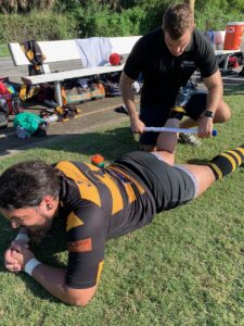 Miami Rugby Team chiropractic treatment
