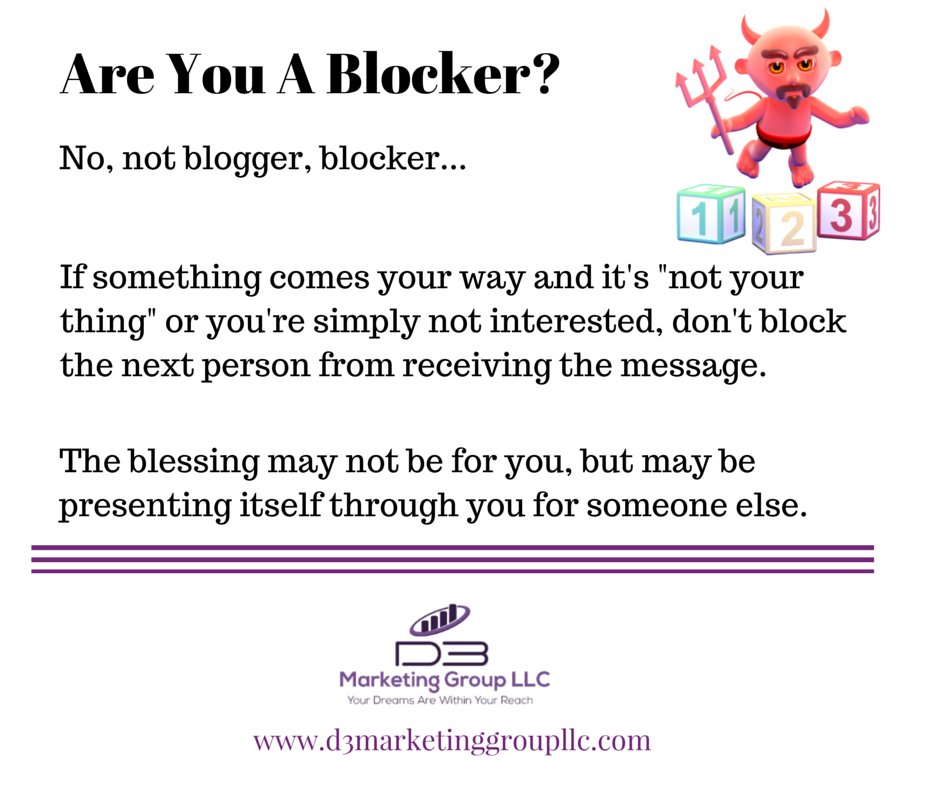 Are You A Blocker?