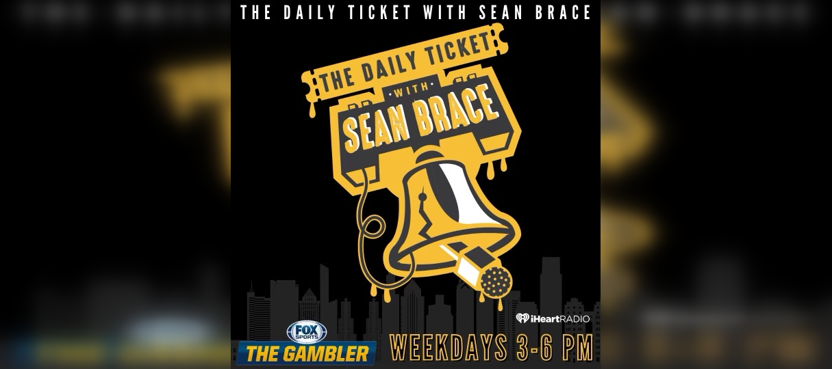 Daily Ticket with Sean Brace, weekdays 3 to 6 p.m. on Fox Sports The Gambler. Liberty Bell with a microphone coming out of it.