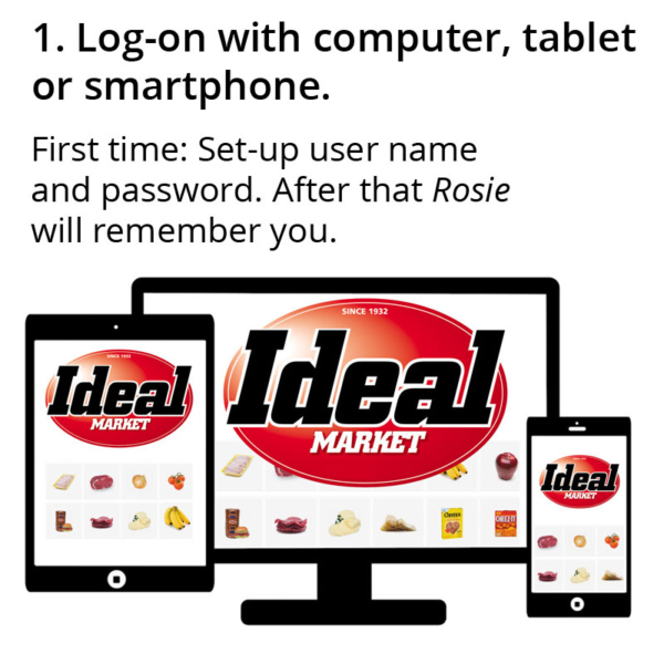 1 Log-on with computer, tablet or smartphone.