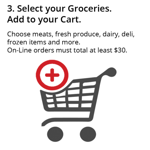 Select Your Groceries. Add to Cart.