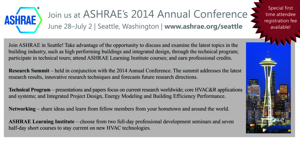 ad for chapter newsletters for 2014 Annual ASHRAE Conference