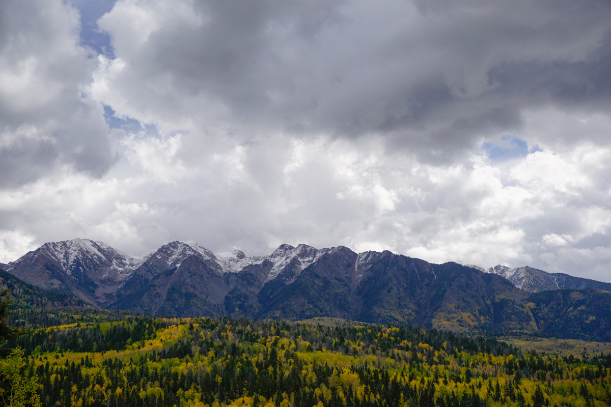 Fall on the Million Dollar Highway just north of Durango but south of Silverton