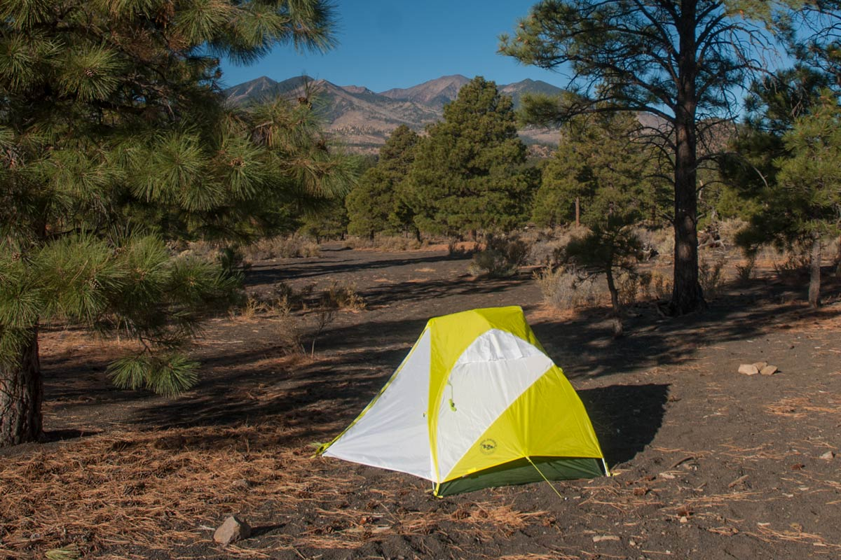 Free dispersed tent camping at the Cinder Hills outside of Flagstaff