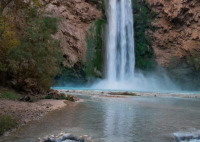 View of Mooney Falls from the creek.