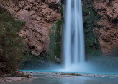 A view of Mooney Falls from the main creek.