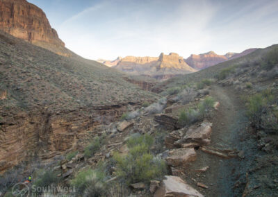 The Hermit Trail just outside the campground.
