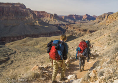 Backpacking down the Hermit Trail.