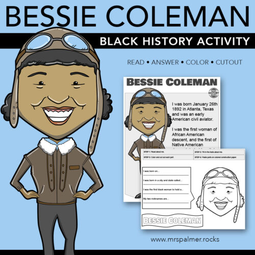 Bessie Coleman Big Head - Black History Activity