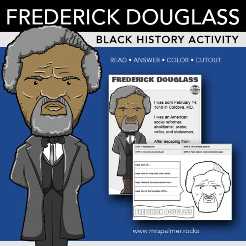 Frederick Douglass Big Head - Black History Activity
