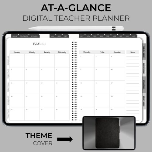 2021-22 At A Glance Teacher Planner Product Image 1