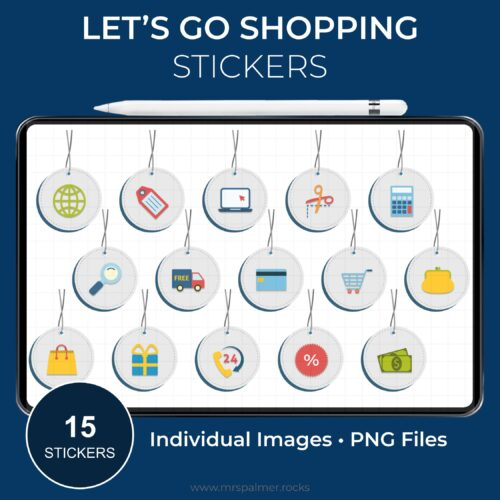 Lets Go Shopping Stickers