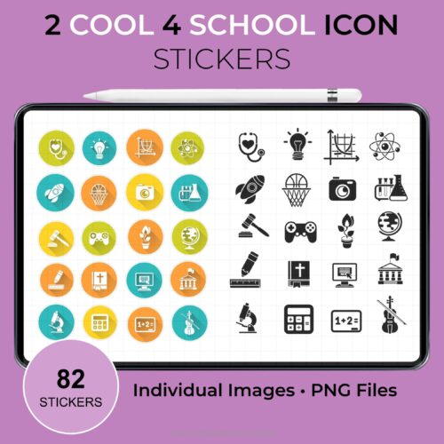 2 Cool 4 School Icons Stickers 1