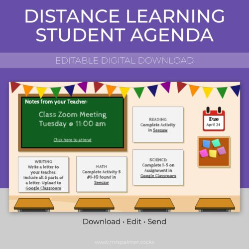 Distance Learning Student Agenda 1