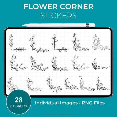 Flower Corner Stickers - Product Image 2