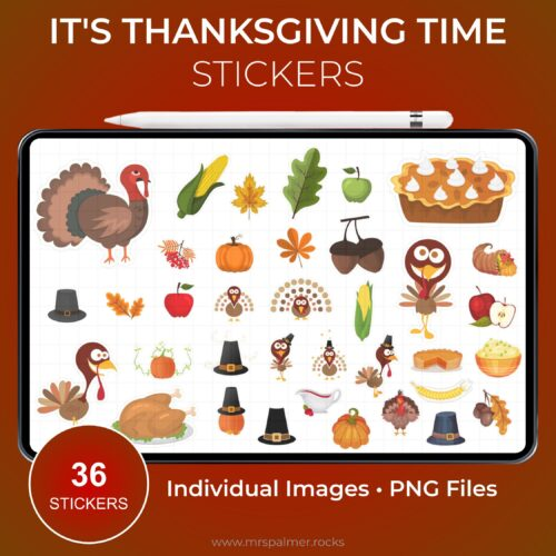 It's Thanksgiving Time Stickers