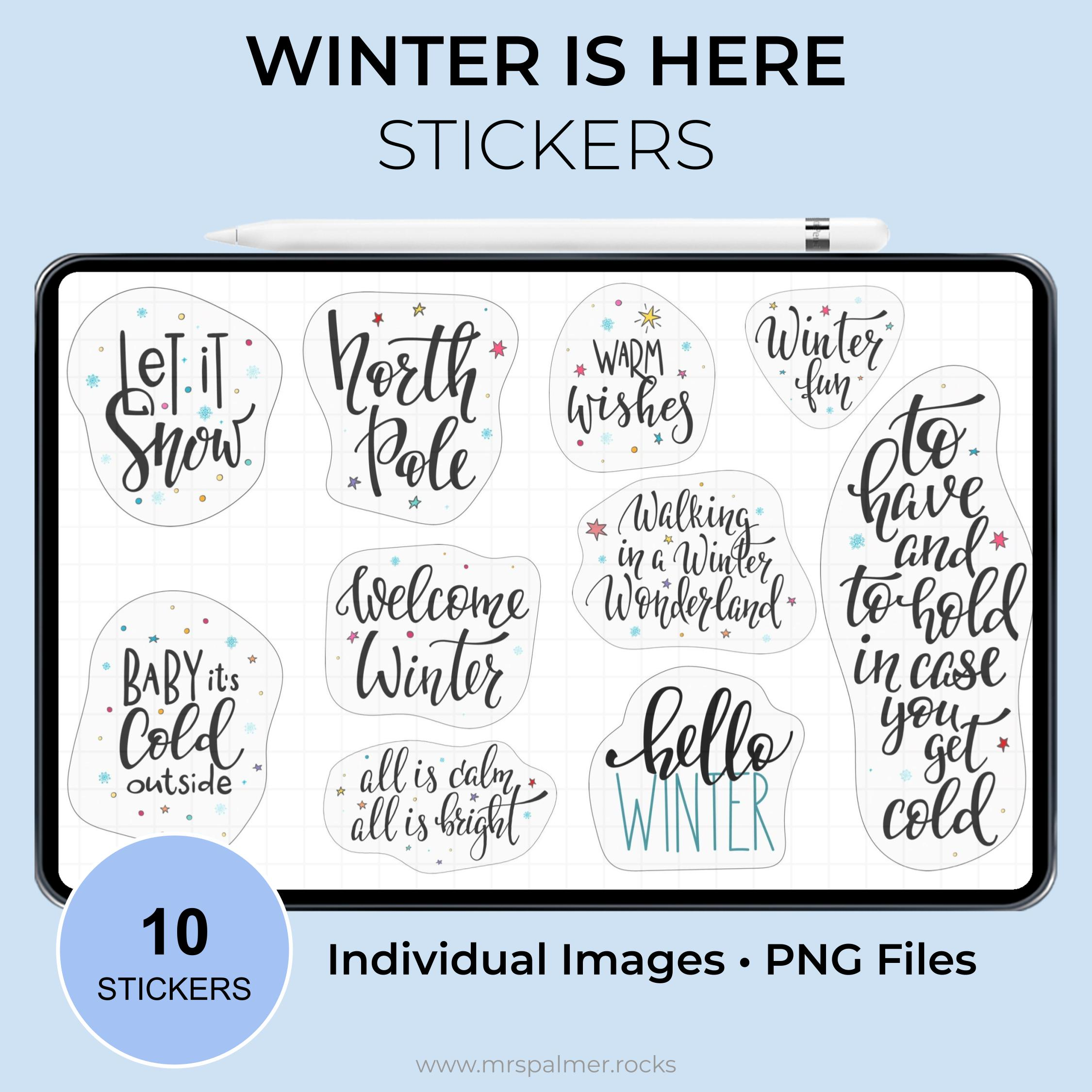 Winter Is Here Stickers