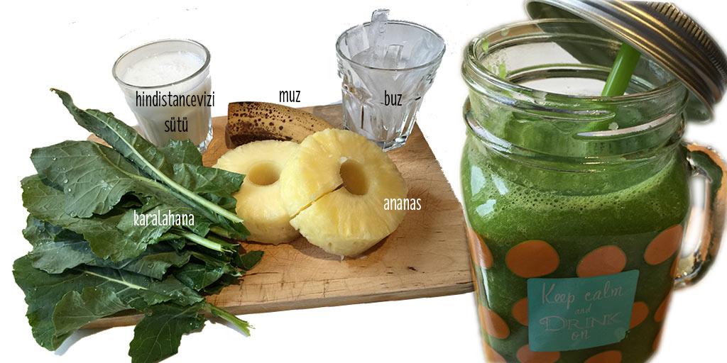 ananaslı-smoothie--green-juice-meyve-sebze-suyu-zayiflamak-nasil-ogren-tarif-yemek-saglikli-beslenme