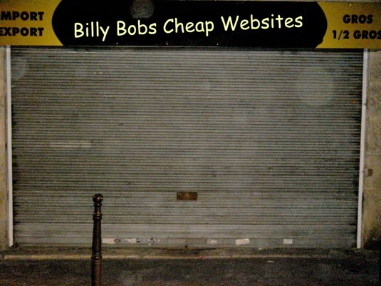 cheap website usability example
