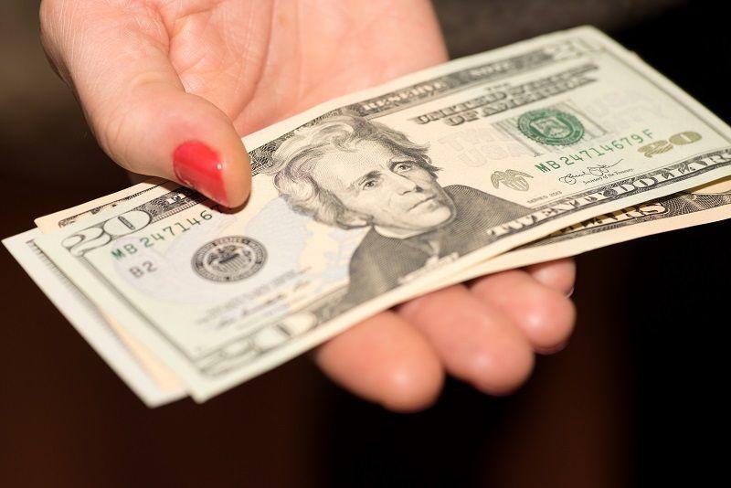 Dollar in the Hand cm