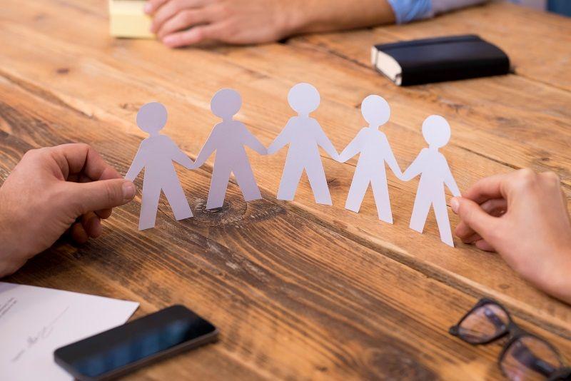 Business unity concept cm