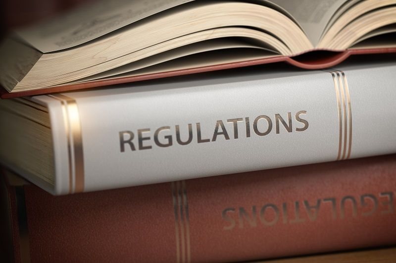 Regulations book. Law rules and regulations concept cm
